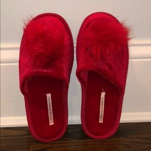 Victoria Secret Red Slippers
